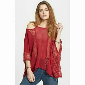 🆕️Free People Echo Pullover in Rasberry Combo🆕️